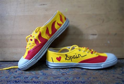 spain shoes painted shoes t shirts onesie and