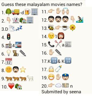 whatsapp quiz film name guess malayalam movie names puzzlersworld com