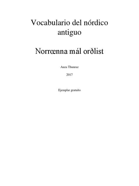 Vocabulario del nórdico antiguo Norrœnna mál orðlist: Auza