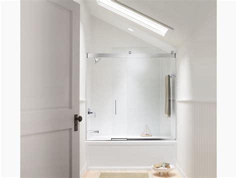 Kohler Levity Shower Door Installation Levity Frameless Sliding Bath Door K 706002 L Kohler