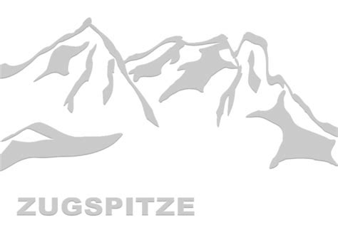 Autoaufkleber ötztal by Zugspitze Mountain On The Road Bergaufkleber Berg