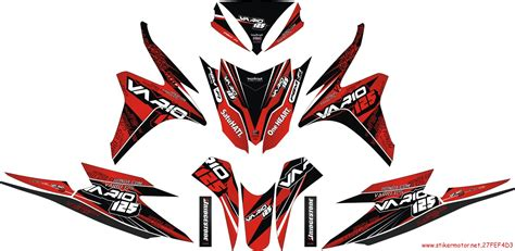 Sticker Striping Motor Stiker Honda Vario Fi Ducati Stoner Spec A striping motor honda vario fi 125 stikermotor net