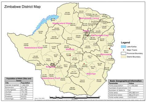 zimbabwe district map    zimbabwe reliefweb