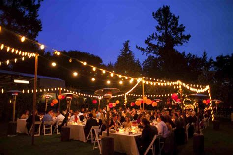 Outdoor Wedding String Lights Wedding Garden Weddings At Pretty The Table Gallery And Outside Lights Stylish Outdoor