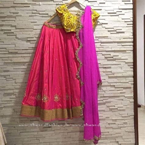 17 Best ideas about Half Saree on Pinterest   Langa voni