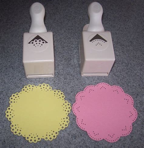 corner punches for card cut 4 quot circles used 2 different martha stewart all