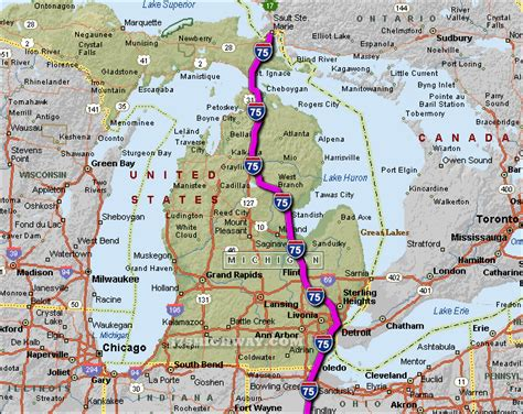 michigan interstate map  travel information
