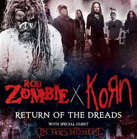 rob tour rob and korn co headlining tour tickets on sale