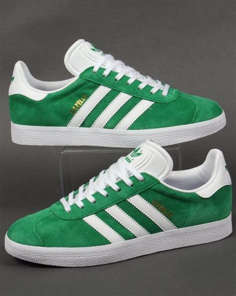 adidas gazelle trainers green white originals shoes mens sneakers