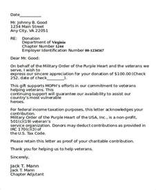 Fundraising Letter Template Non Profit Organizations Sle Donation Letter