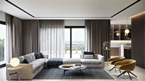 realistic architectural rendering   stylish living room design ronen bekerman