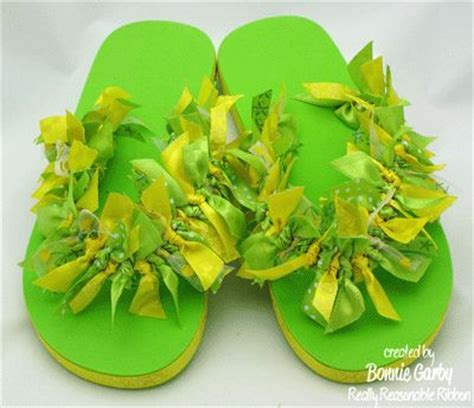 ideas for flip flop craft projects decorating flip flops with ribbons craft ideas