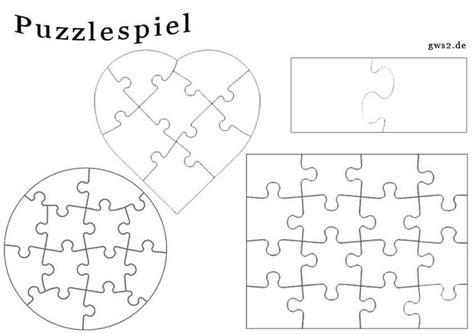 Vorlage Word Herz Blanko Puzzle In Verschiedenen Formen Feinmotorik R 228 Tsel