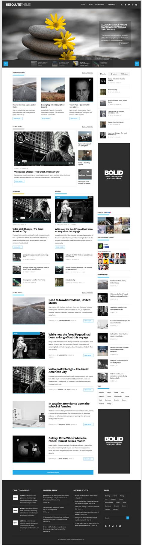 elegant themes page builder responsive resolute is a elegant magazine theme with drag drop page