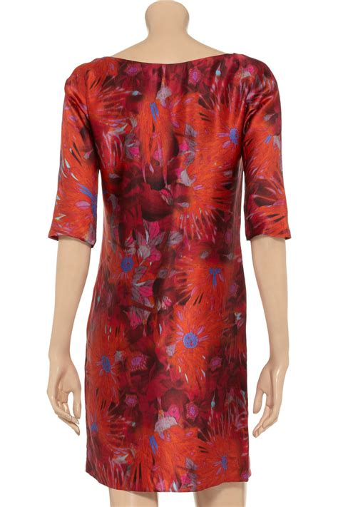 Delias Floral Print Satin Dress by Lyst Erdem Moe Floral Print Silk Satin Dress In