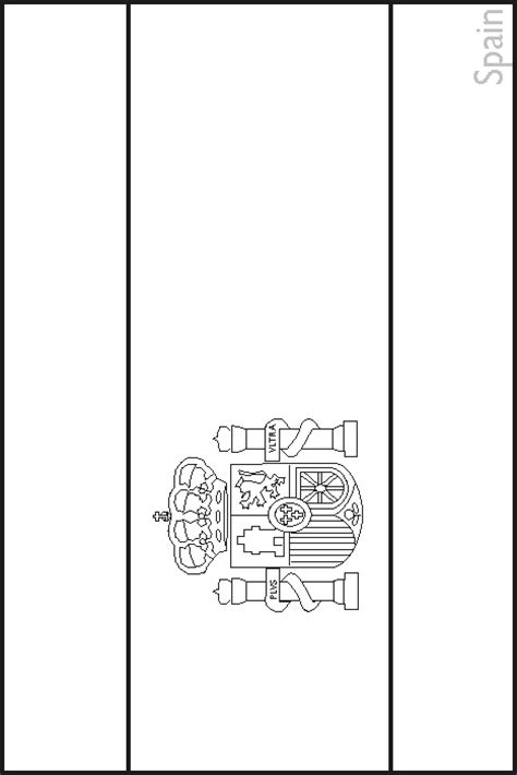 Colouring Book Of Flags Southern Europe Spain Flag Coloring Page