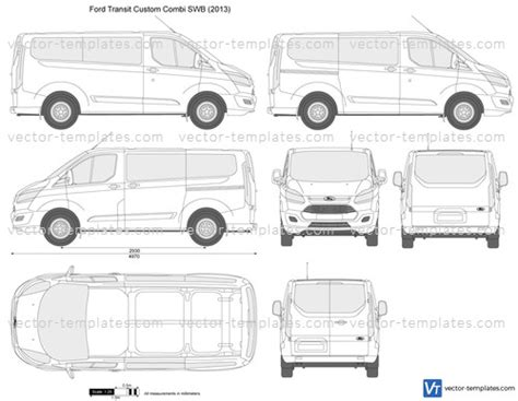 Templates Cars Ford Ford Transit Custom Combi Swb Ford Transit Vector Template