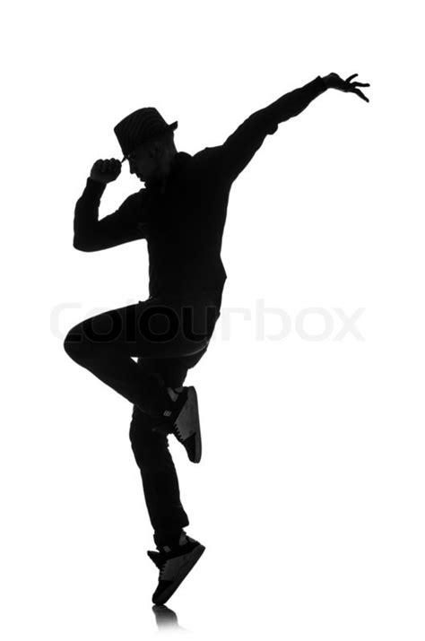 Home Fashion Design Houston by Silhouette Of Male Dancer Isolated On White Stock Photo