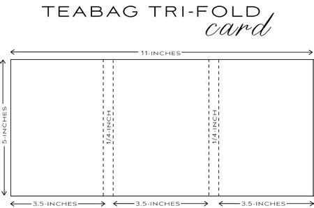 Tri Fold Single Card Template by Capture The Moment