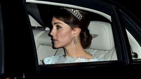 princess diana lovers duchess kate wears princess diana s lovers knot tiara to