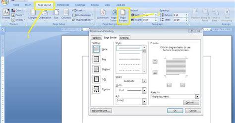 cara membuat bingkai keren di ms word tutorial software cara mudah membuat bingkai halaman di mc word tutorial