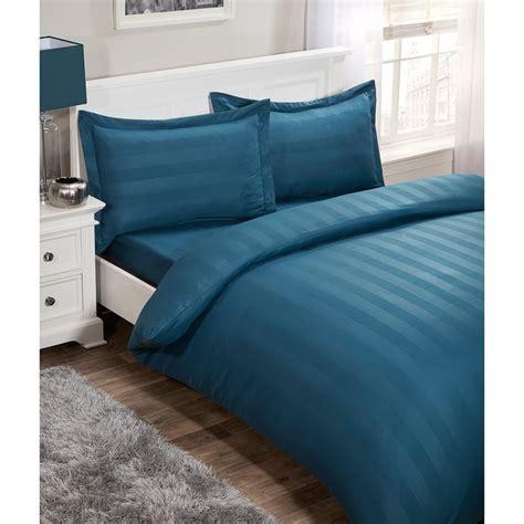 silentnight satin stripe complete bed set king bedding bm