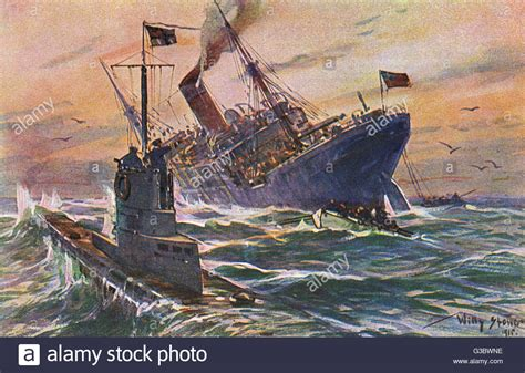 ww1 german u boats and unrestricted submarine warfare wwi german u boat attack on an english commercial
