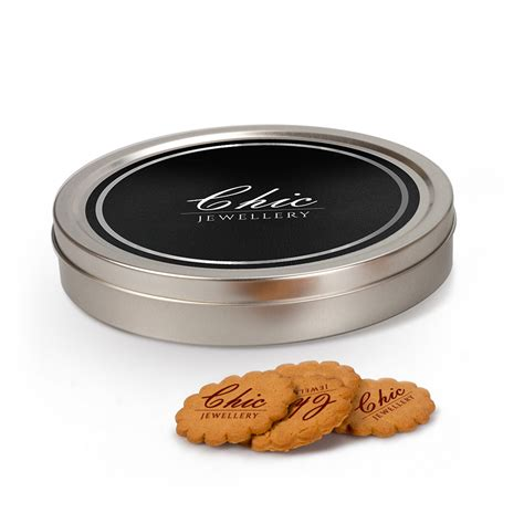 New Produk Tekpuk Oat Cookies Asi Booster personalised silver tin of logo cookies biscuits distinctive confectionery