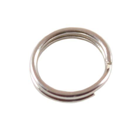 8mm sterling silver split ring