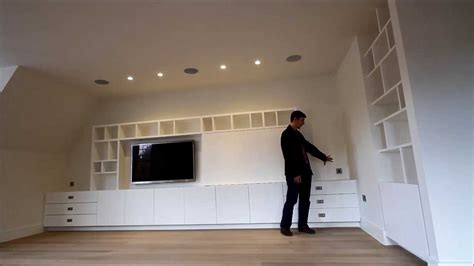 Fireplace Bookcase Ideas Bespoke Built In Media Tv Unit Uk Youtube