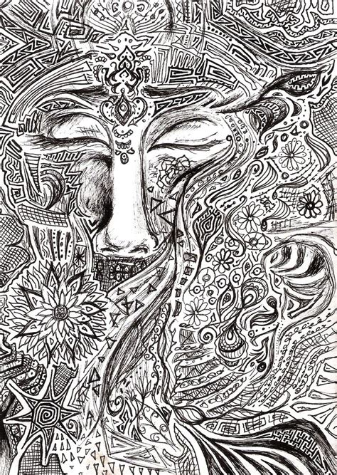 patterns black and white drawing psychedelic patterns by tallis on deviantart