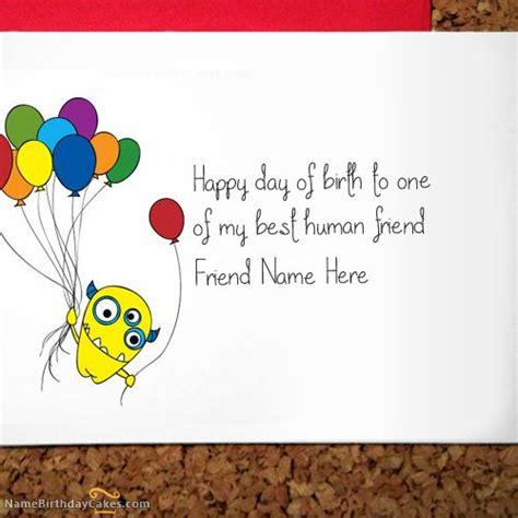 What To Write Birthday Card Write Name On Crazy Birthday Card For Friend Happy