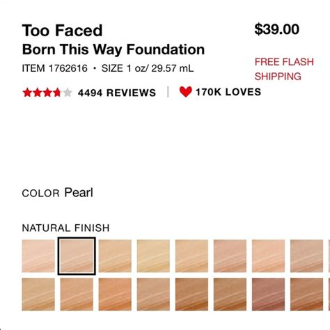too faced pearl born this way foundation 31 off too faced other too faced born this way