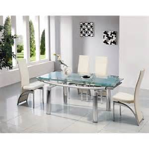 Frosted Glass Dining Room Table Frosted Glass Extending Dining Table 6 Chairs 501