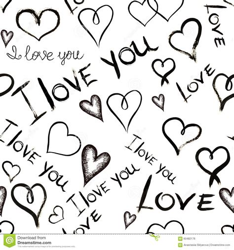 imagenes de i love you en blanco y negro seamless pattern with inscriptions i love you and