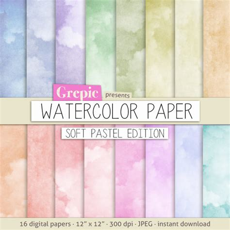 How To Make Watercolor Paper - items similar to watercolor digital paper soft pastel