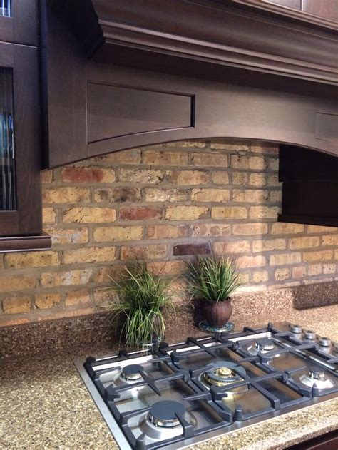 rustic backsplash rustic brick as a backsplash kitchen pinterest