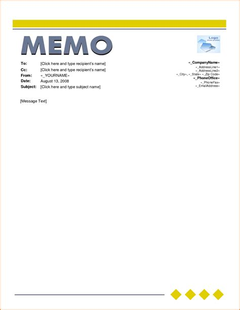 6 Word Memo Template Authorizationletters Org Memo Template Microsoft Word