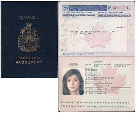 fake canadian passport template business template
