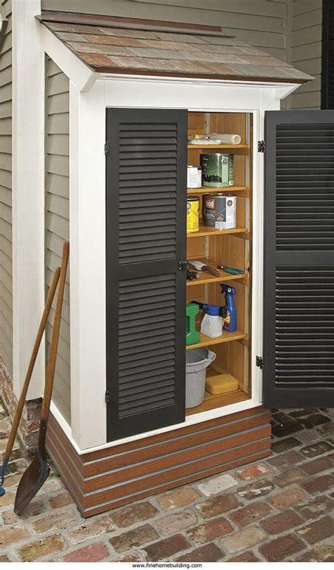 outdoor storage ideas  pinterest backyard