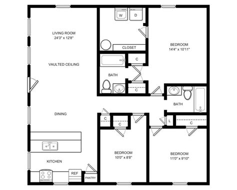 1200 square foot apartment floor plans 1200 sq ft apartments house design and