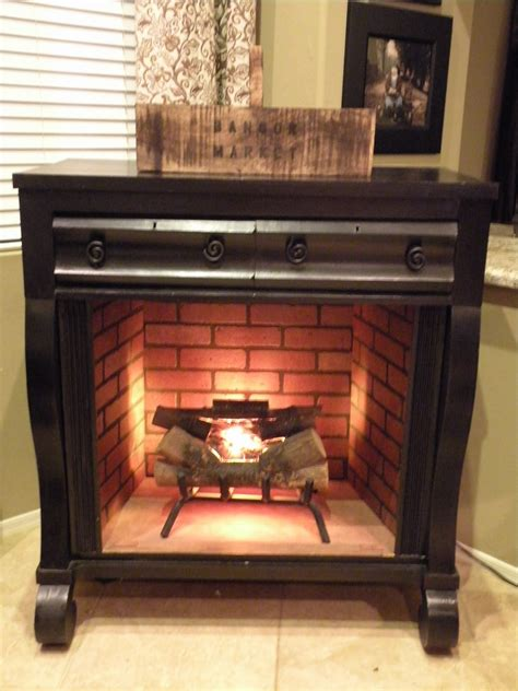 Used Fireplace by House Undercover Dresser Turned Fireplace