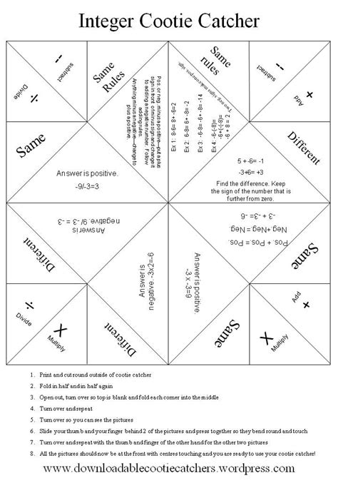 How To Make A Cootie Catcher Out Of Paper - ms bishop s coach ideas and