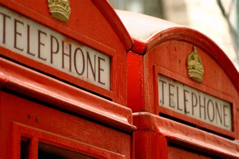 cabina telefonica londinese rosso londinese orange viaggi