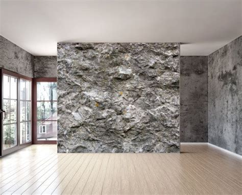 peel and stick wall covering rock stone texture wall mural is a repositionable peel