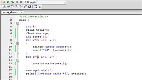 tutorial c array c programming tutorial 52 arrays part 2 adding array