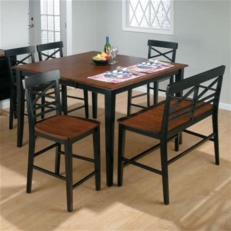 Black Counter Height Dining Table And Chairs Stratford 6 Pc Counter Height Dining Table Black Set With Bench And 4 Chairs Modern Dining
