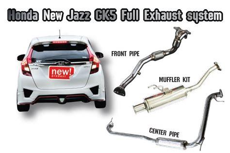 Fullset Honda Jazz Gk5 stainless steel exhaust system for honda new jazz gk5