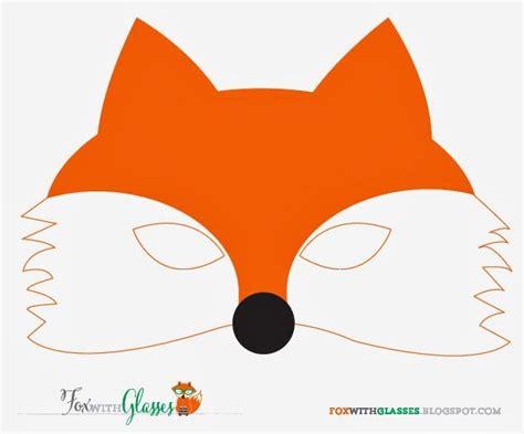 printable mask of a fox free printable fox mask fox with glasses