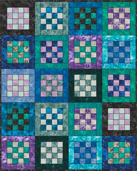 checkerboard botanicals quilt kit craftsy